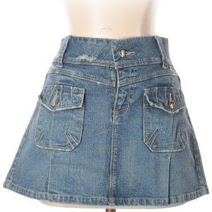 [a13-17] Candies | denim pocket mini skirt
